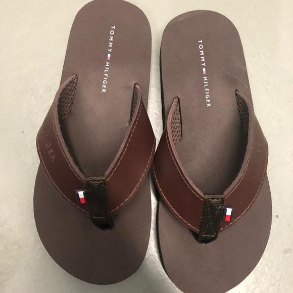 c748664c1 Tommy Hilfiger Shoes | Boys Solid Flip Flop Brown Size 12 | Poshmark